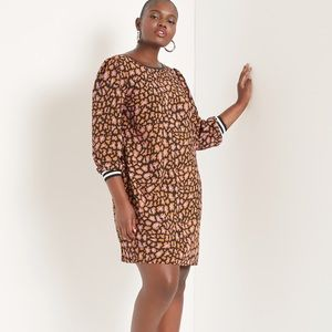 Eloquii printed ribbed cuff dress